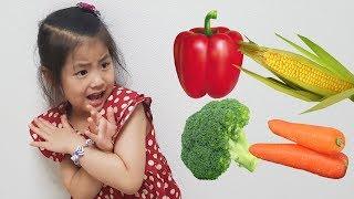 어떻게 하면 야채를 잘 먹을까요?!! 서은이의 야채 인형 귀신 놀이 바른 식사습관 Vegetables Ghost for Kids