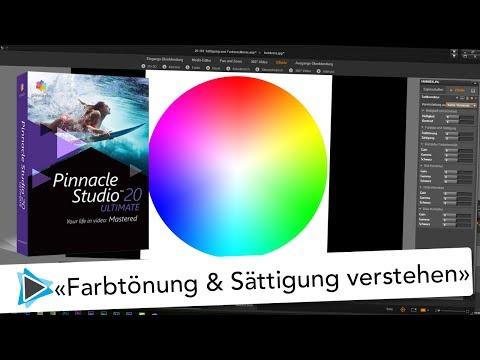 Fabrtönung und Sättigung Farbkorrektur verstehen mit Pinnacle Studio 20 Deutsch Video Tutorial