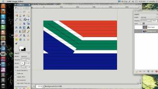 How to draw the flag of South Africa   using GIMP