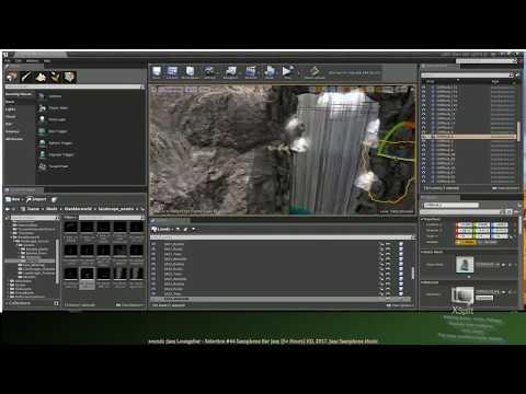Working on Volcano lvl, Adding some simple vfx , rails, details ect.  #UnrealEngine #Adobe #Blender
