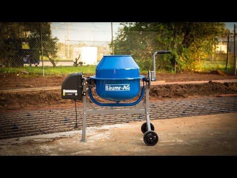 Baumr-AG 70L Portable Cement Concrete Mixer Electric Construction Sand Gravel