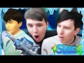 DIL GETS A FREEZE RAY - Dan and Phil Play: Sims 4 #35