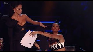 Alesha Covers Nicoles Underwear After AMAZING Kevin Davy White Act! The X Factor UK 2017