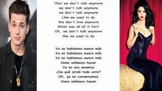 Charlie puth ft selena gomez lyrics y traduccion