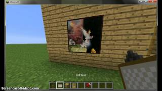 Minecraft как сделать (потайной проход в картине)
