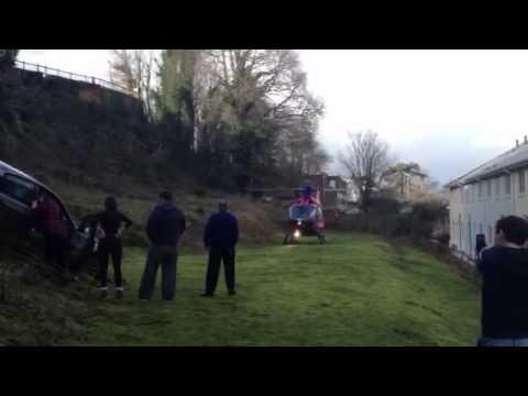Air Ambulance lands at Dawlish Warren car plunge