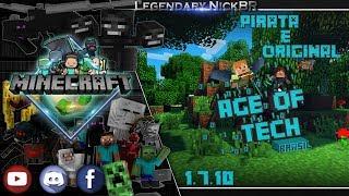 Minecraft - Melhor Servidor de Age of Tech BRASIL 1.7.10 ( Pirata e Original) - PT BR