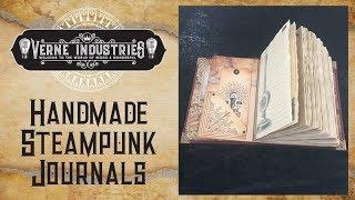 Steampunk Handmade Journal Flick Through