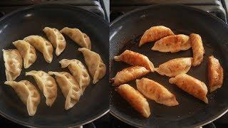 팬으로 냉동만두 찌는법과  2가지 맛 군만두 굽는법 편…
