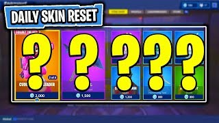 The NEW Daily Skin Items In Fortnite: Battle Royale! (Skin Reset #34)