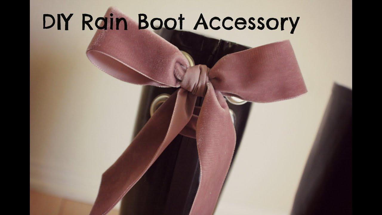 DIY Rain Boots - Rain Boots Accessories - YouTube
