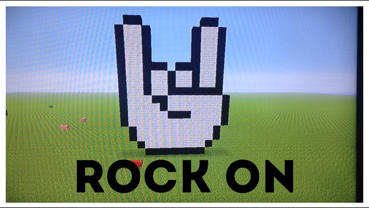 Minecraft Tutorial How To Make Rock On Hand Symbol Youtube
