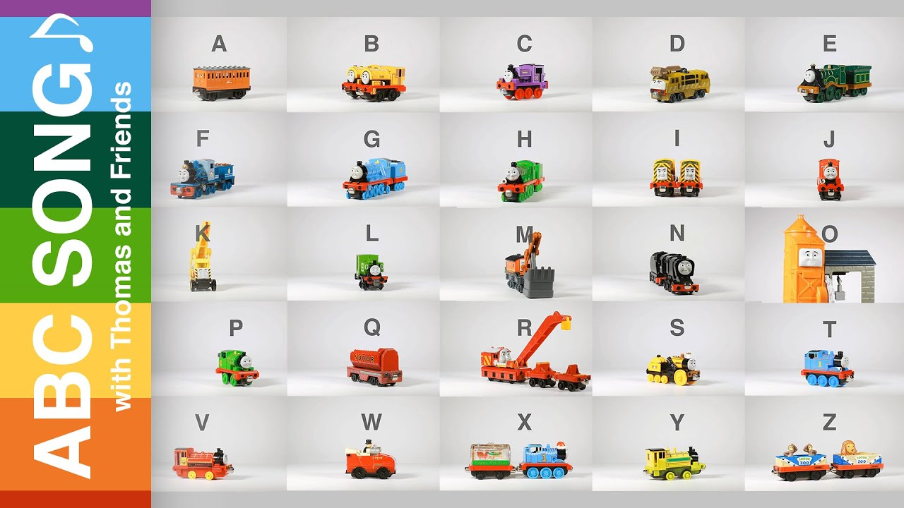 Learn ABC song Alphabet song with Thomas and Friends toy trains