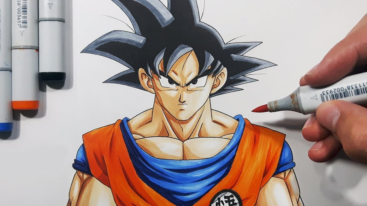 How to draw goku step by step tutorial