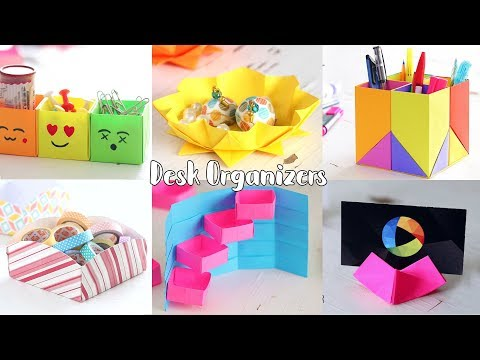 6 Creative Desk Organizer | Back to school  | Ventunoart