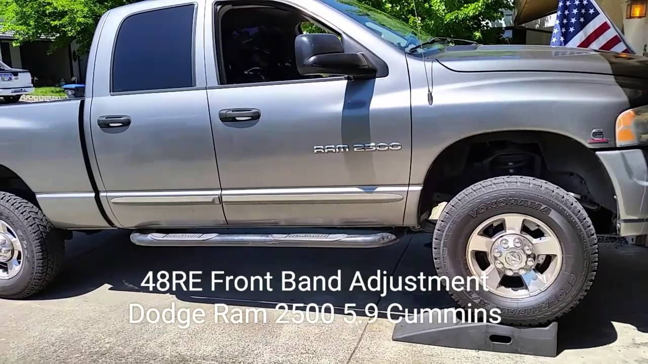 small resolution of dodge diesel 48re transmission front band adjustment video