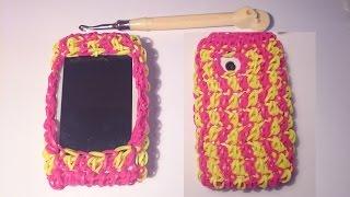 ЧЕХОЛ для iPhone, smartphone  КРЮЧКОМ, ч 1  Радужки Rainbow Loom