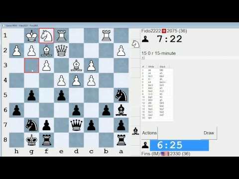 Standard Chess #98: Fido2222 vs. IM Bartholomew (Nimzo-Indian Defense)