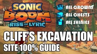 Sonic Boom: Rise of Lyric 100% Guide - Cliff's Excavation Site ALL Collectibles