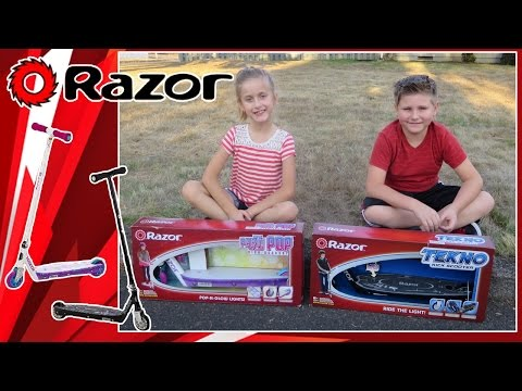 Razor Party Pop and Tekno Kick Scooter Review