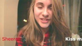 Катя Белицкая: Ed Sheeran- kiss me на гитаре (видеоурок) Cover