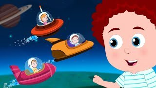 Race Through Outer Space | Schoolies Cartoon | Videos For Babies - Kids Channel