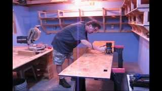 Routing Shelf Edges In My Workshop (music Is Loud, Lower Your Volume Some)