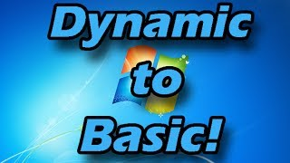 How to convert a Dynamic hard drive to Basic