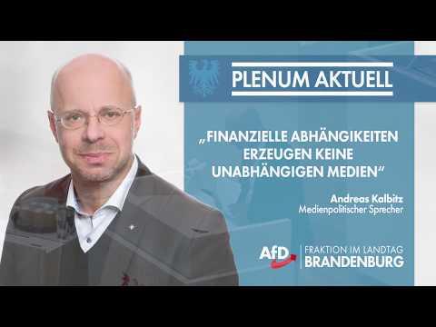Andreas Kalbitz: Finanzielle Abhängigkeiten erzeugen keine unabhängigen Medien