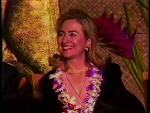 First Lady Hillary Rodham Clinton in Guam (1995)