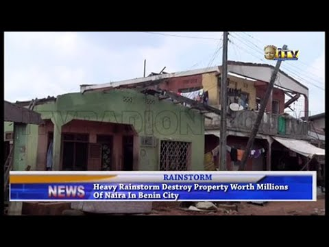 Heavy rainstorm destroy property worth millions of Naira in