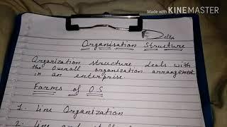 Organization structure, line organization in hindi