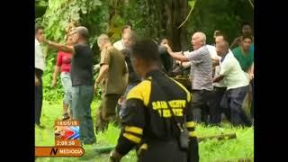 Imágenes del rescate de las víctimas del accidente aéreo (VIDEO)