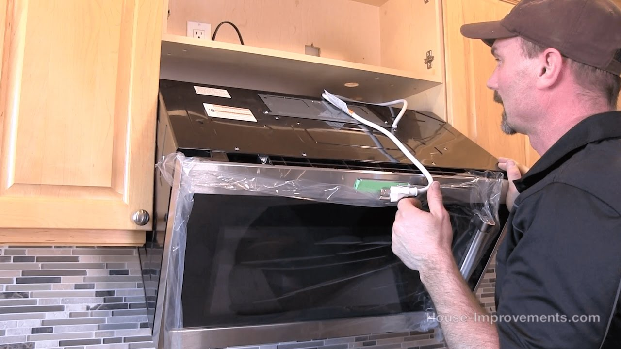 how to install a microwave over the range style