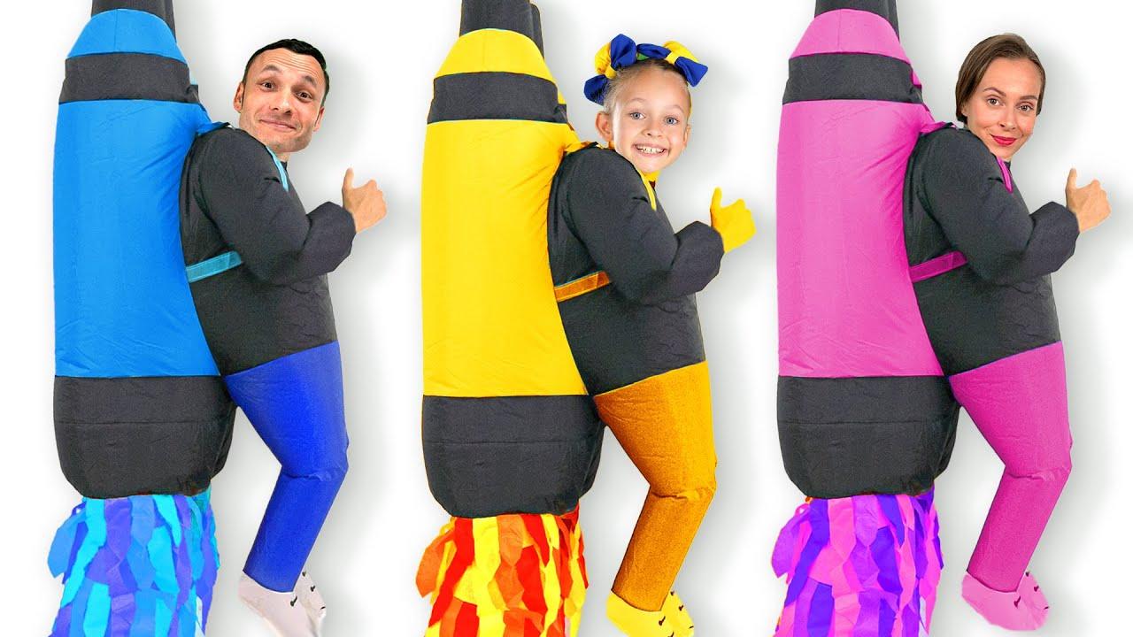 Майя участвует в конкурсе костюмов