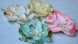 как сделать цветы в скрапбукинге