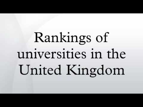 Rankings of universities in the United Kingdom