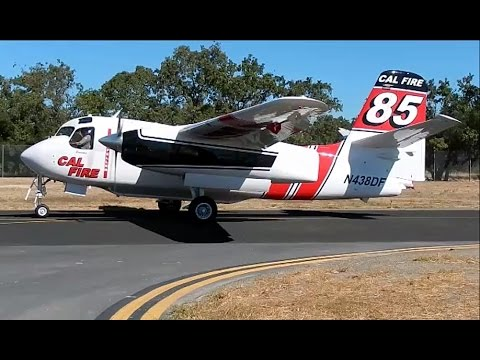 Cal Fire Grumman (Marsh) S-2 Turbo Tracker's & OV-10 Bronco at Sonoma County Airport (STS)