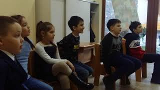 Фрагмент занятия в группе обучения разговорному осетинскому языку школьников 1  4 кл