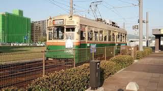 広島電鉄3000形3002号&3700形3701号&1900形1905号&1900形1908号 広島港にて