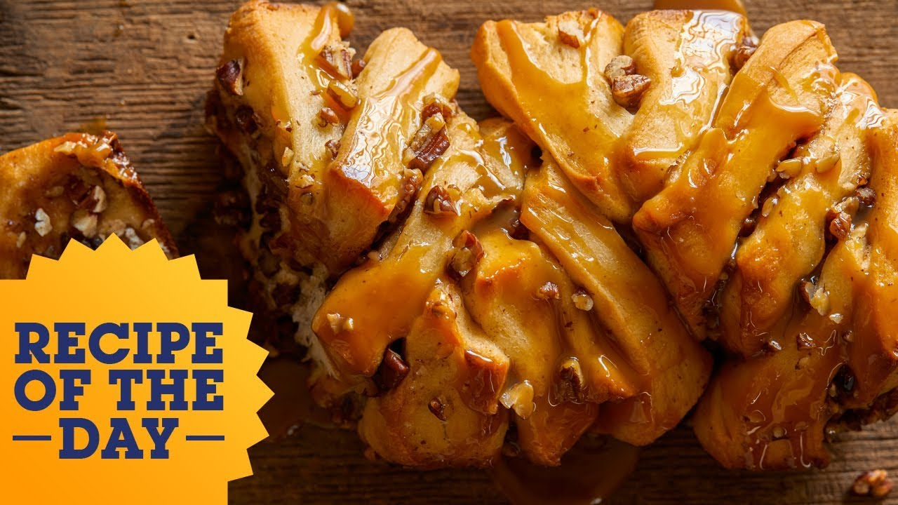 Recipe Of The Day Sticky Pecan Pull Apart Bread Food Network