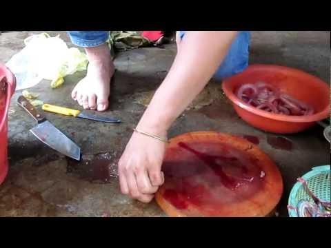 Làm thịt rắn nước. TTGDTX Gia Lai