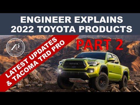 2022 TOYOTA PRODUCT REVEAL PART 2 - Engineer Explains/De-mystifies 2