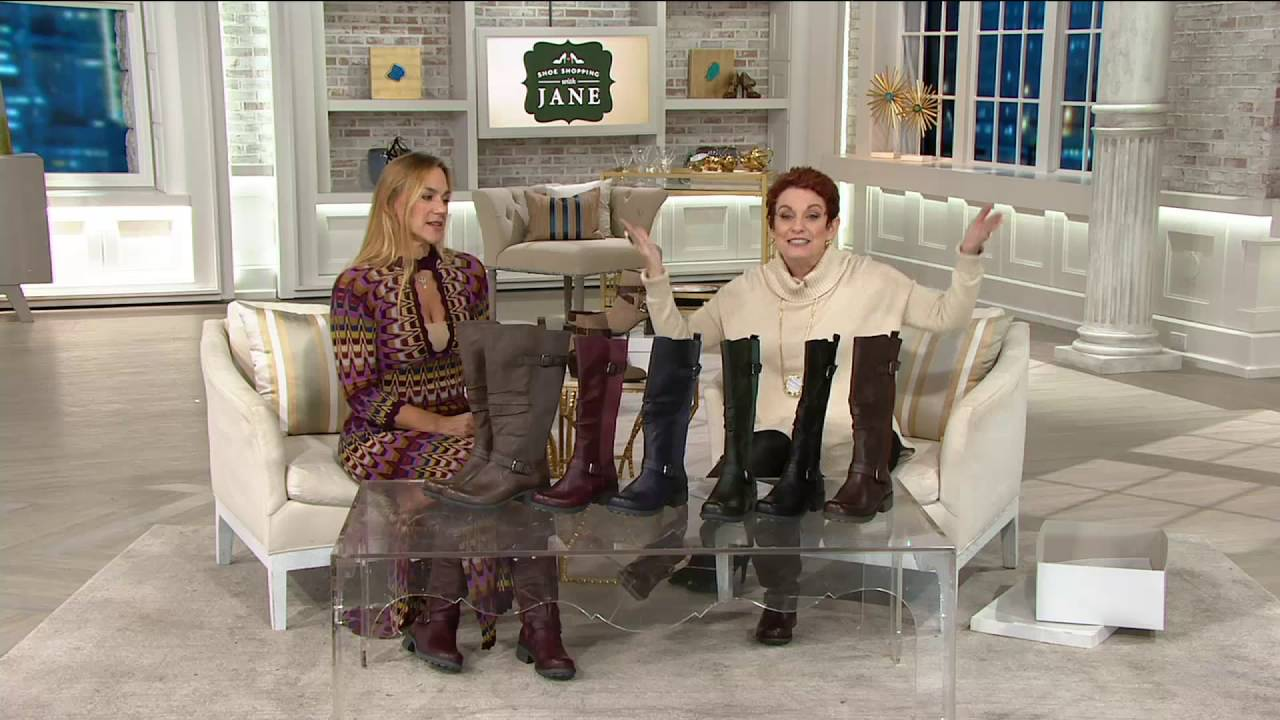 84253e35ae9 Earth Origins Leather Choice of Calf Width Tall Boots - Penelope on QVC