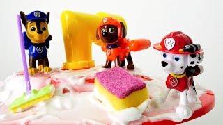 Paw Patrol Toys machen Frühjahrsputz. Lehrreiche Videos.