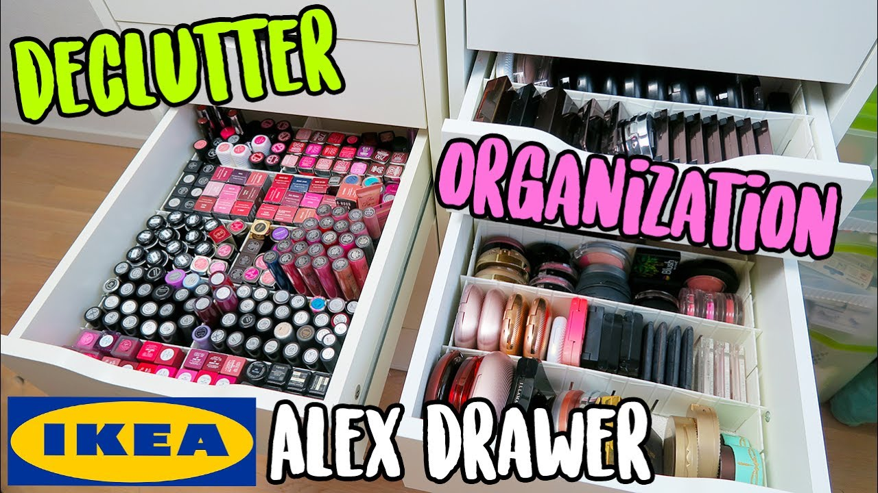 Makeup Declutter The Best Way To Organize Ikea Alex