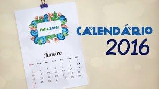 Calendário 2016 – Meses para Colorir por Carla Fernanda