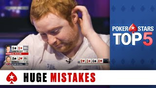 Top 5 Biggest Poĸer Mistakes ♠️ Poker Top 5 ♠️ PokerStars Global