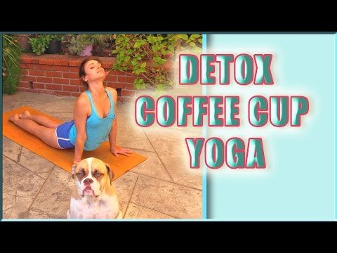 Detox Coffee Cup Vinyasa Yoga Class Full Body Core Water Retention