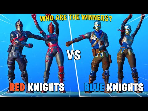 Black Knight & Red Knight Vs. Blue Squire & Royale Knight - Fortnite Dance Battle